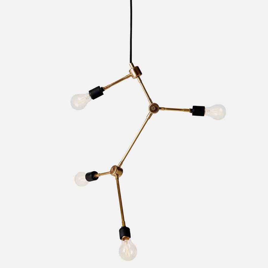 franklin chandelier brass