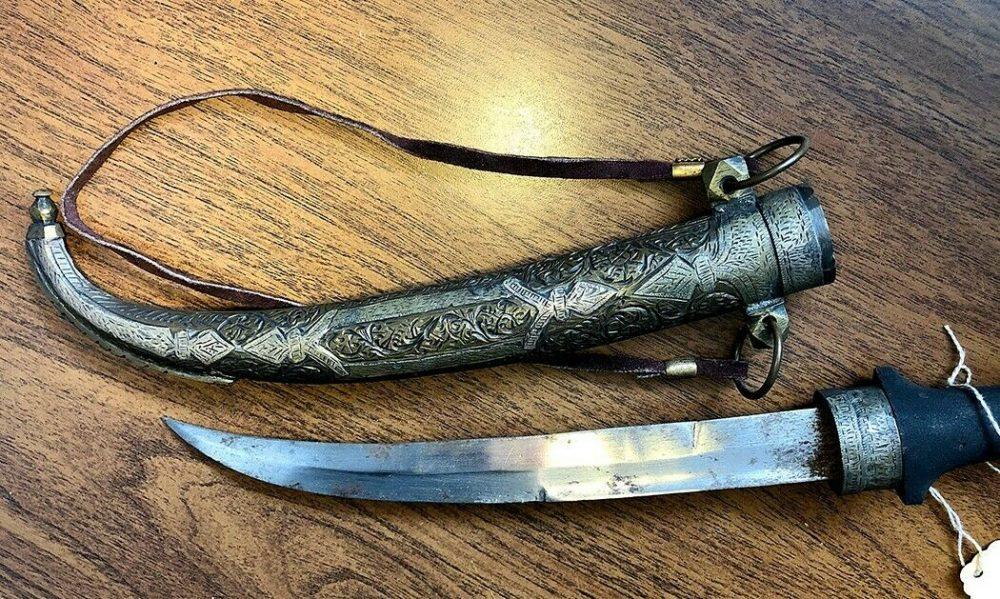 Antique Moroccan Dagger Jambiya Koummya 1840's Handmade Silver Bronze