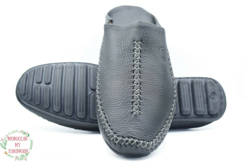 Babouche slippers men Moroccan slippers Berber sheepskin slipper for men Morocco