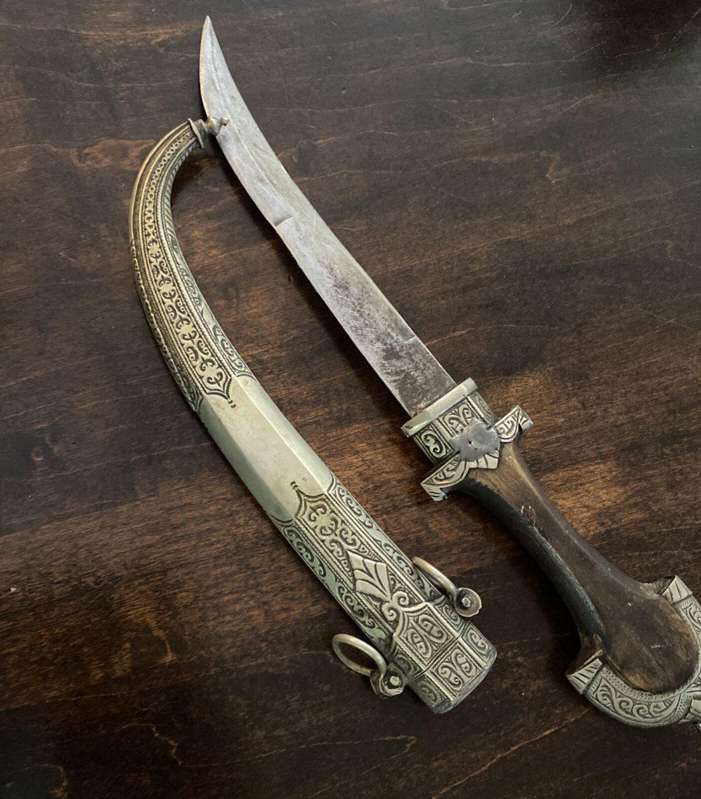 Dagger Knife Islamic Jambiya Koumya Vintage Style Moroccan Authentic Handmade
