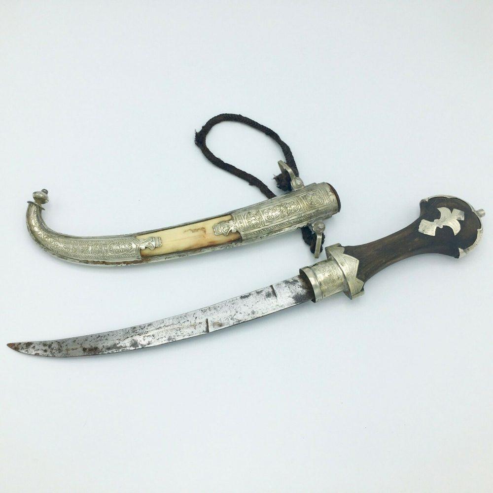Moroccan Koummya Dagger with Camel Bone Inlay