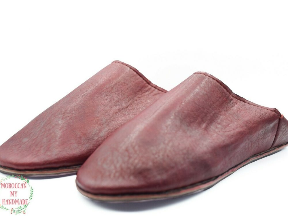 House Slippers Moroccan Shoes Moroccan Berber hand painted shoes Comfy sheepskin