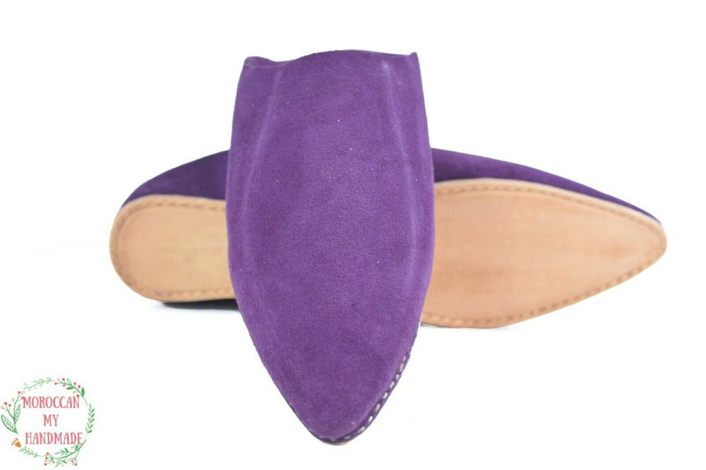 Leather suede slippers girls slippers pointe shoes soft house slippers sheepskin F