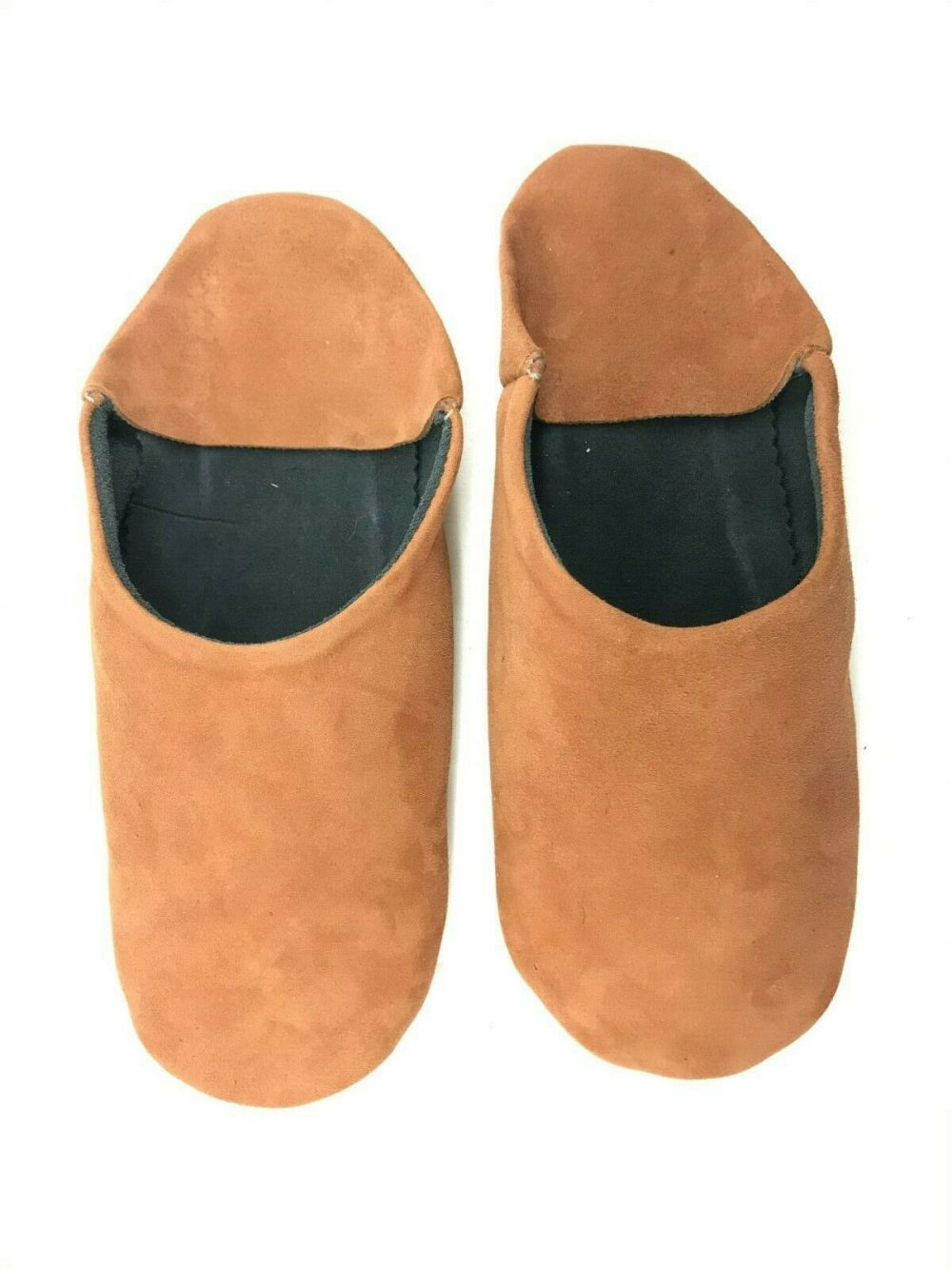 MOROCCAN LEATHER BABOUCHE SLIPPERS SOFT SUEDE MULES SLIDES LOAFERS *HANDMADE*