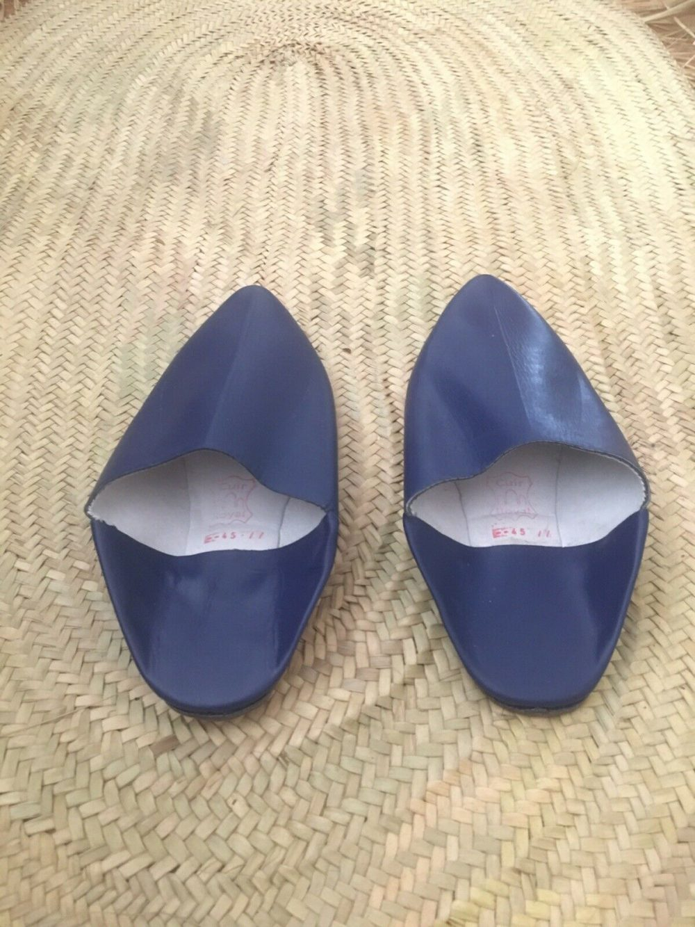 Moroccan Hand made All Leather Men's Slippers ( Baboush) Size 10 (eu 45)