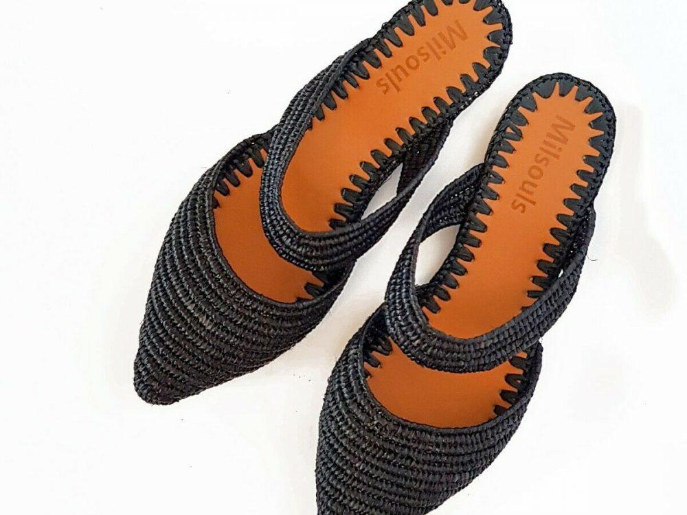 Moroccan babouch, handmade slippers, raffia shoes, raffia mules, women flats