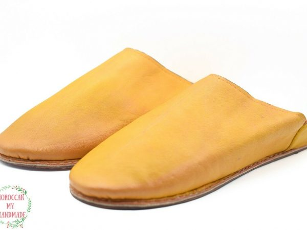 Moroccan babouche slippers Berber comfy leather mules leather loafers handmade