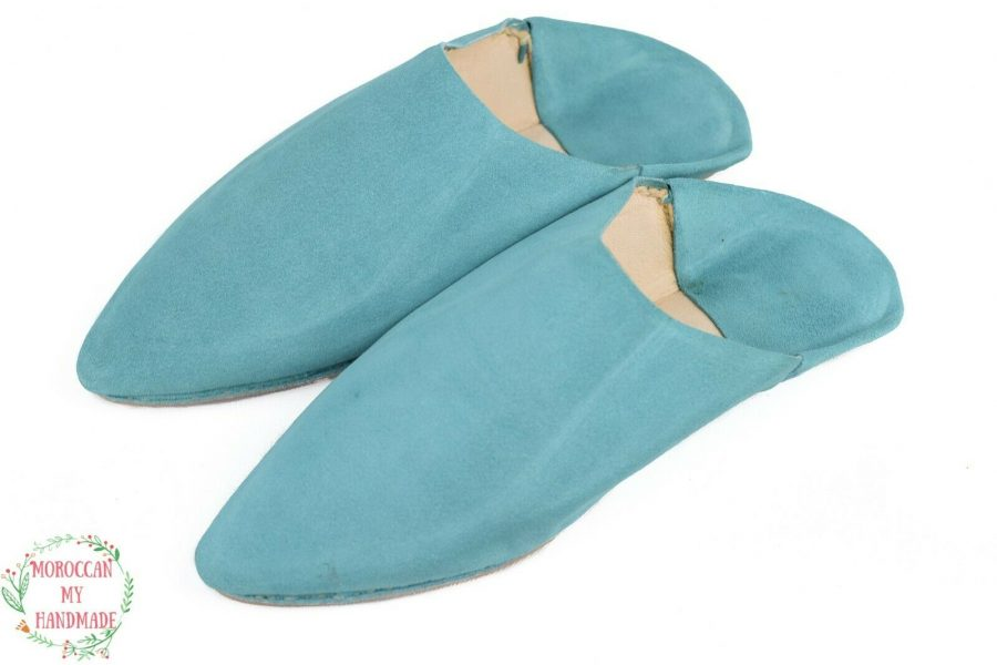 Sheepskin Moroccan babouches slippers Soft suede Slippers Bedroom slippers women
