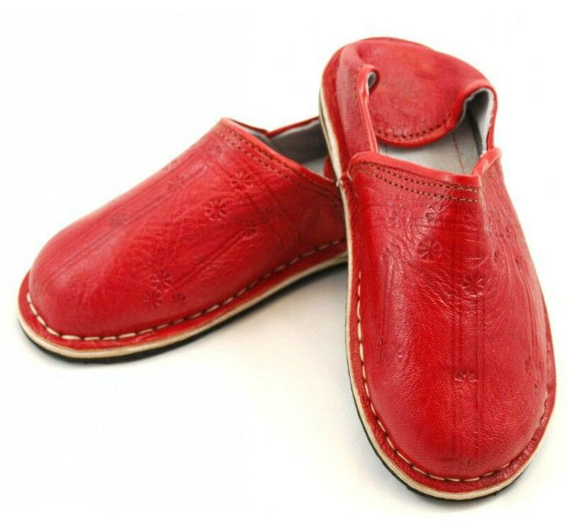 Slipper Moroccan Leather Sewn r1 Shoe Slipper Slipper