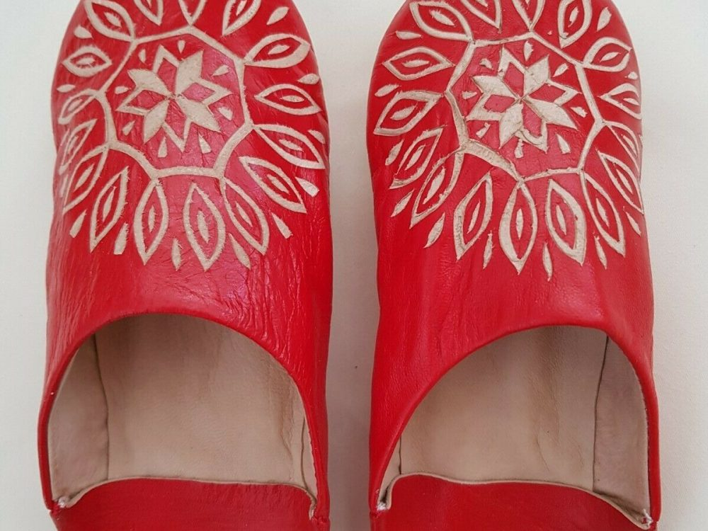 Traditional Handmade Leather Moroccan Babouche Round Toe Slipper