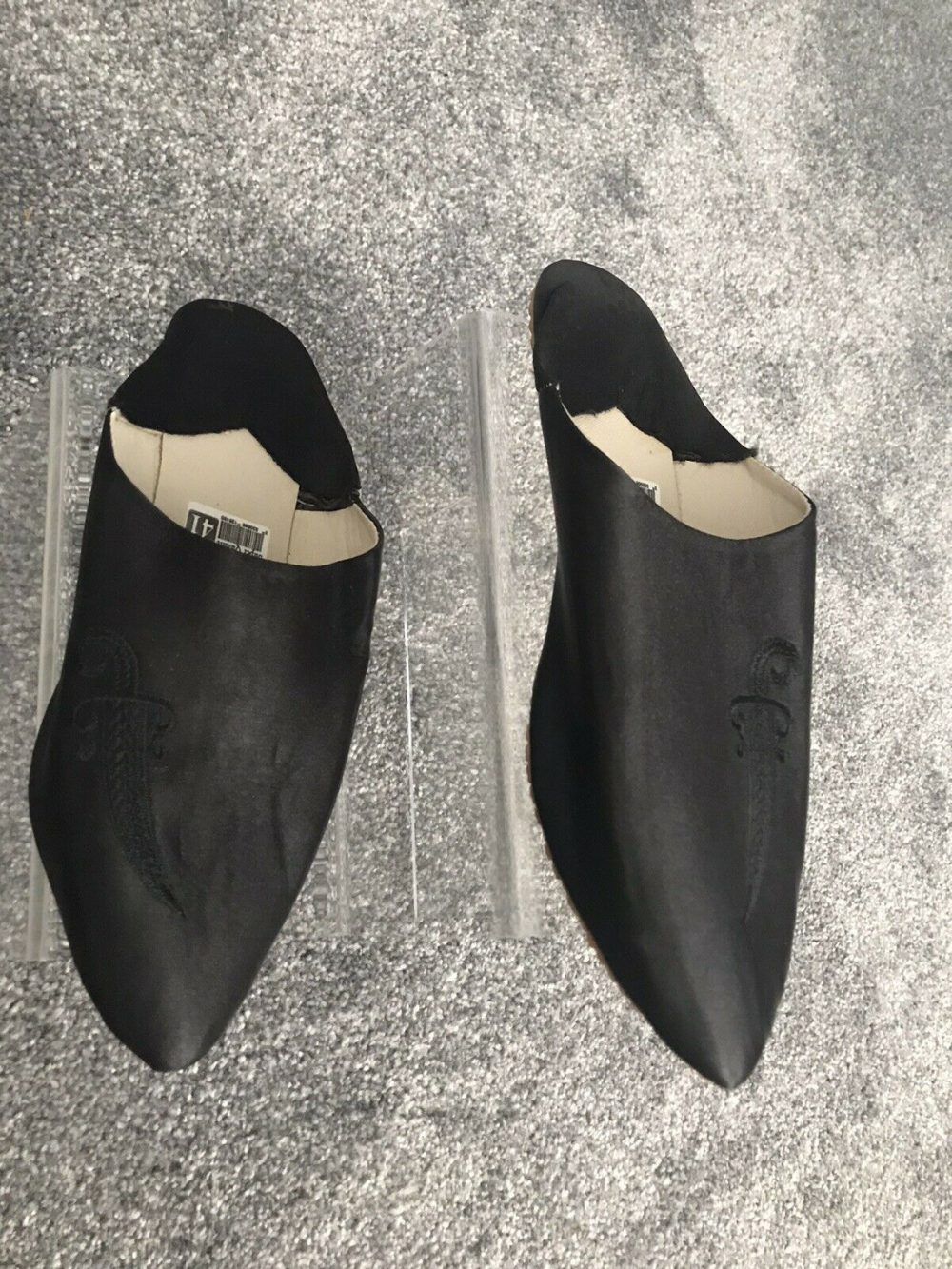 WOMENS MOROCCAN LEATHER SUEDE POINTY POINTED BABOUCHE SLIPPERS SHEEPSKIN SLIDES
