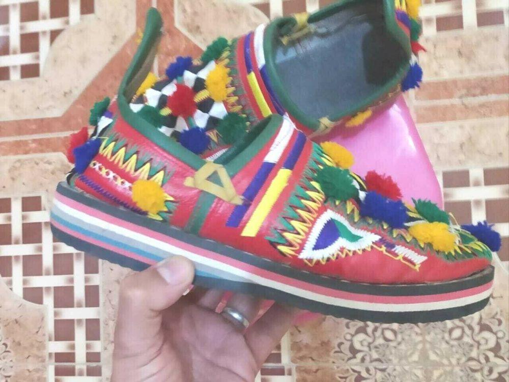 babouche Maroc Amazigh cuir véritable 100 %-slipper Morocco Amazigh leather AS