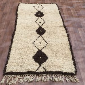 Moroccan Beni Ourain Rug 106cm X 258cm