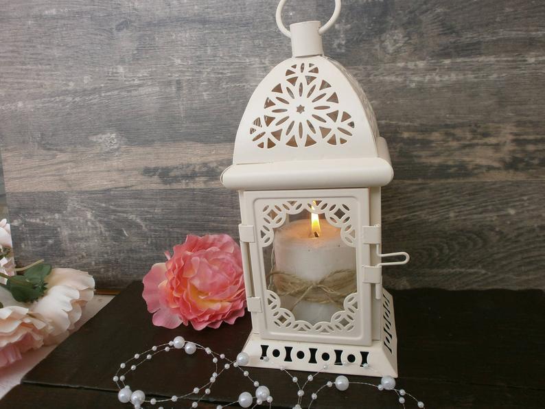Vintage Moroccan Lantern, Shabby chic Lantern, Rustic Wedding Lighting, Vintage Decor, Wedding Centerpiece Distressed Lantern Party Decor