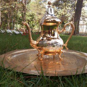 Moroccan gold Teapot / Handmade teapot / Moroccan Handcrafted Teapot, Moroccan handmade home living kitchen decor accessory