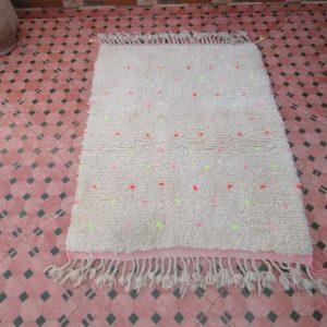 beni ourain pink rug handmade 100% WOOL