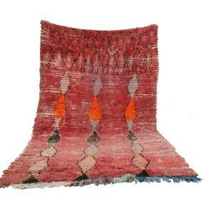 Moroccan rug 4x7, Berber rug Vintage Azilal rug, Boucherouite rug vintage, vintage area rugs, Bohemian tribal Colorful rug, boho wool rug,