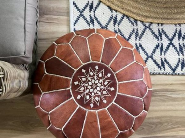 Moroccan Pouf 100% Leather, hight Quality Ottoman Ottoman pouff stool, Footstool, several colors available