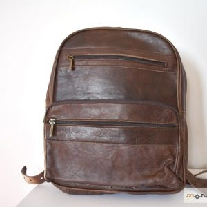 Brown Leather Backpack Multi Pockets. Unisex. High Quality. Moroccan style.