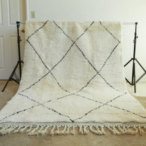 Moroccan wool rug, Beni Ourain handmade carpet