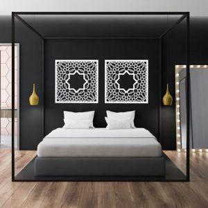 Decorative stylish wooden decor ALHAMBRA, 60 cm, arabesque decor, Decorative, moroccan wall panel, wood wall art, ornament, arabic, islamic