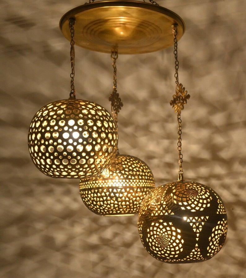 Moroccan Hanging Pendant Lamps,Pendant Lighting,Moroccan Pendant Lamp,ceiling light,Pierced ceiling light,Modern Moroccan Lamp