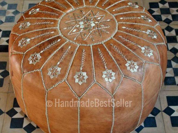 40%OFF ——Brown poufs,pouf,pouffe,leather pouf,Moroccan pouf,ottoman pouf,chairs,poufs natural,Moroccan pouf,Luxury poufs,Boho décor