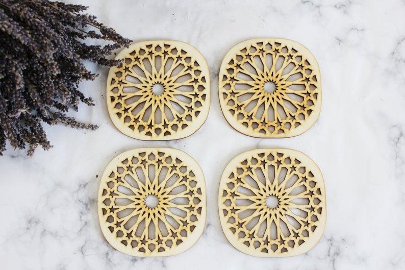 Moroccan Tile Coasters   Moroccan Ceramic Coasters