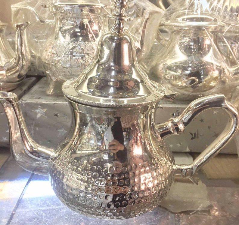 Moroccan Handmade Tea Pot Silver Plated Medium * NEW *