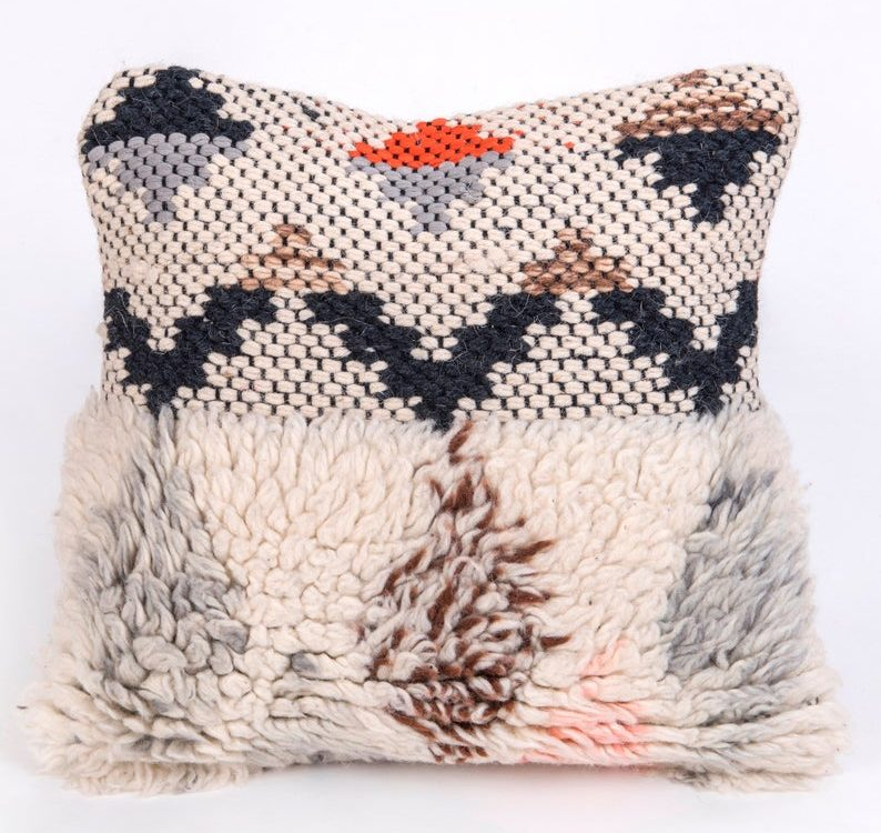 Boho Moroccan Cushion Cover Bohemian Handwoven 18X18 Pillow Case Throw Sofa Bed Pillow Decorative Cushion Housewarming Gift