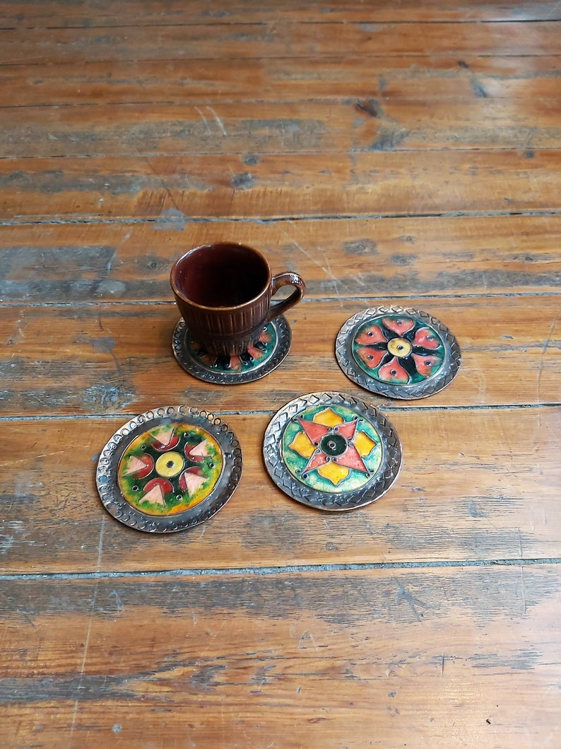Vintage Copper Coasters