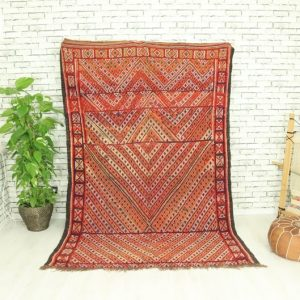 Vintage Beni Mguild rug, Vintage Moroccan rug, Vintage Boujaad rug, 5,9x8,8 ft, vintage kilim rug, 30%off Old Morrocan rug, boho rug