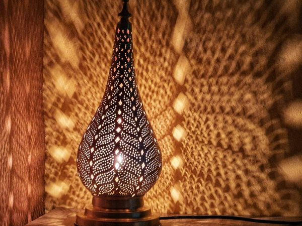 Moroccan standing lamp, nightstand, table lamp, desk lamp, floor lamp, Handcrafted by expert, boho lighting, standing lamp, designer lamp