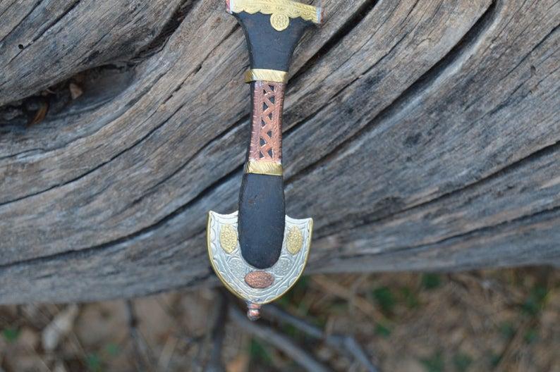 Small Moroccan Dagger knife Handmade Blade, Decorative Dagger, Handmade Dagger Decor, Handcrafted Decor