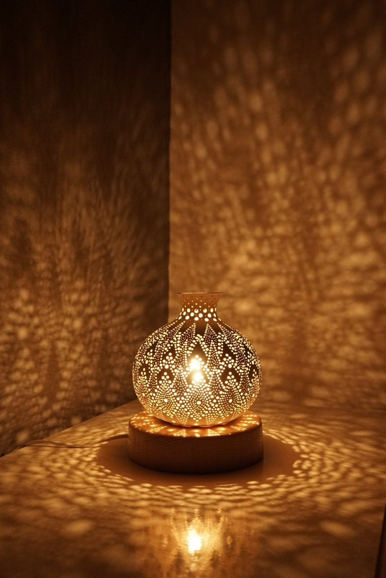 BLOOM III Gourd Lamp, Decorative lamp, Bedroom lamp, Housewarming Gift, Personalized Christmas Gift, Table Lamp, Anniversary Gift