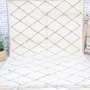 Exclusive Beni Ourain Rug | Beni Ourain Style Rug | Moroccan Beni Ourain Carpet