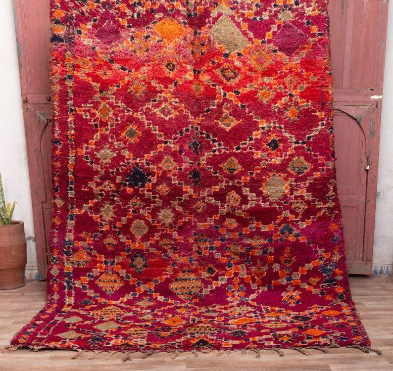 Beni mguild rug 9x6 ft - berber teppich - morocco wool rug #201
