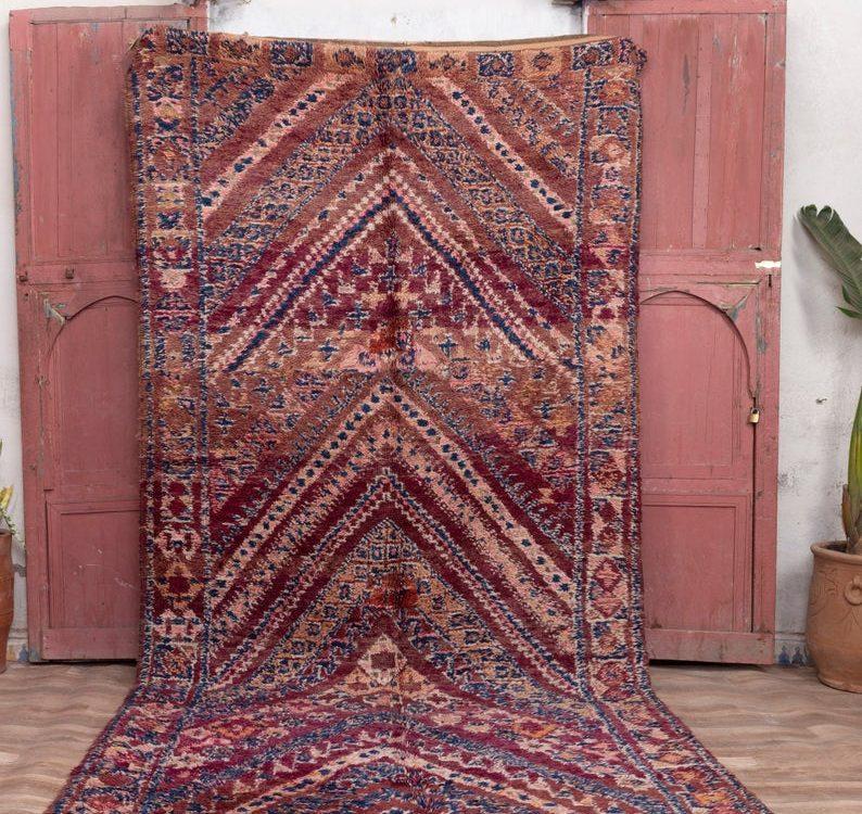 Morrocan rug 12x5 ft - Beni mguild rug - large morocco rug - carpet morocco #7