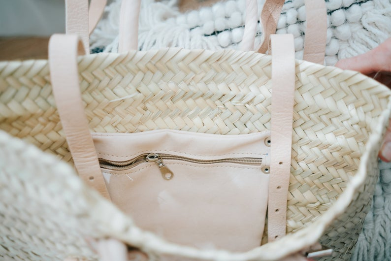 Moroccan straw bag   Straw Bag Morocco   Moroccan Leather Bags