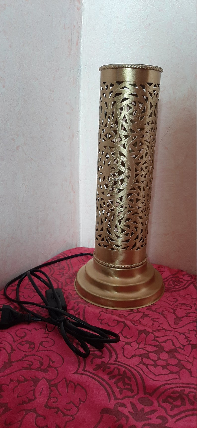 Set of 2 table lamps, Moroccan table lamps, desk lamp, bedside lamp, floor lamp, Moroccan lighting/ Ready to ship.