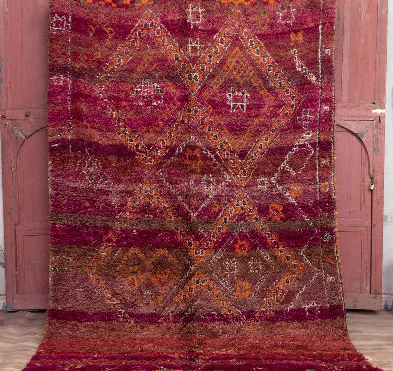 Morrocan rug 9x6 ft - large morocco rug - Beni mguild rug - carpet morocco #50
