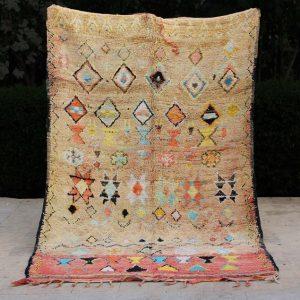Vintage Moroccan Rug, Vintage Berber Rug, Boujaad Beni Rug, Bohemian Colorful Rug, Authentic Morocco Rug Style, Rug Interior Beni Ourain