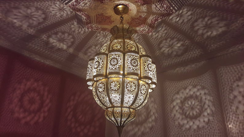Large Moroccan Pendant Light, Moroccan lamp, Hanging Lamp, Lampshades Lighting New Home Decor Lighting from Marrakech