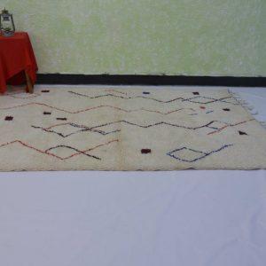 8.20x5 ft, handmade rug, moroccan rug, beni ourain rug, wool rug, berber rug, oriental morocco rug