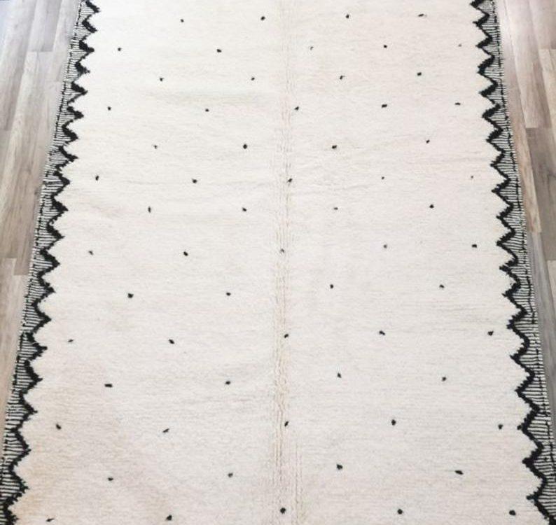 Beni ourain rug- Authentic Moroccan Rug- Custom Beni Ourain rug- Beni Rug- Large Moroccan Rug beni Rug