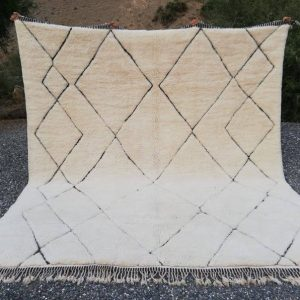 8x10 Moroccan beni ourain rug Mrirt large area rug Vintage azilal rug Tapis berbere marocain handwoven rug Berber kilim rug Beni teppich