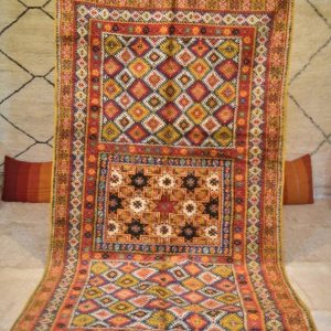 Vintage Moroccan Rug, 10x5ft (3.12x1.67m) Large Moroccan Rug, Custom Nursery Rug, Oriental Rugs, Kilim Rug, Azilal Rug, Shag Pile Wool Rug
