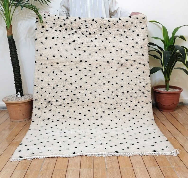 Moroccan beni ourain rug, Berber rug ,Moroccan rug, handmade rug ,beni ourain rug,area rug , large moroccan rug