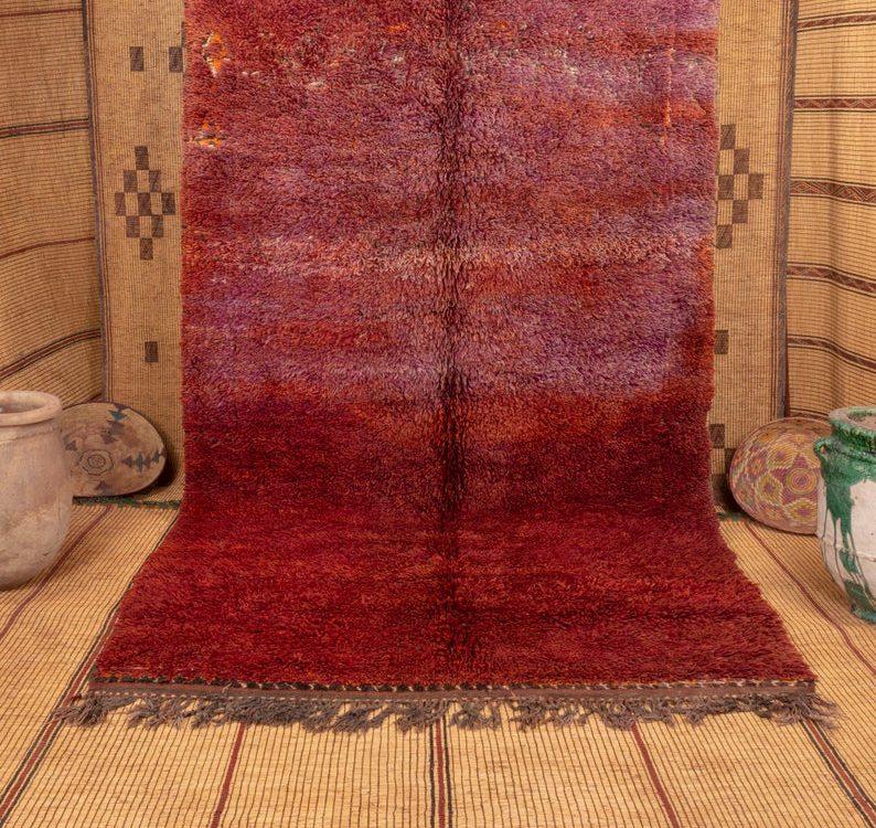 Beni mguild rug 11x6 ft - vintage morrocan rug - tapi berbere #610