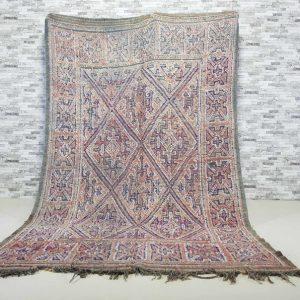 5.9″x9.5″ Morocco Vintage Beni Mguild Rug, Moroccan Beni Mguild Rug, Vintage Beni Mguild Rug, Moroccan Vintage Carpet, Morocco Rug VNR006